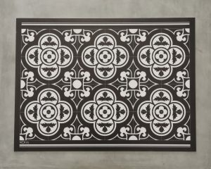 TAPIS VYNILE DECORS CARREAUX DE CIMENT