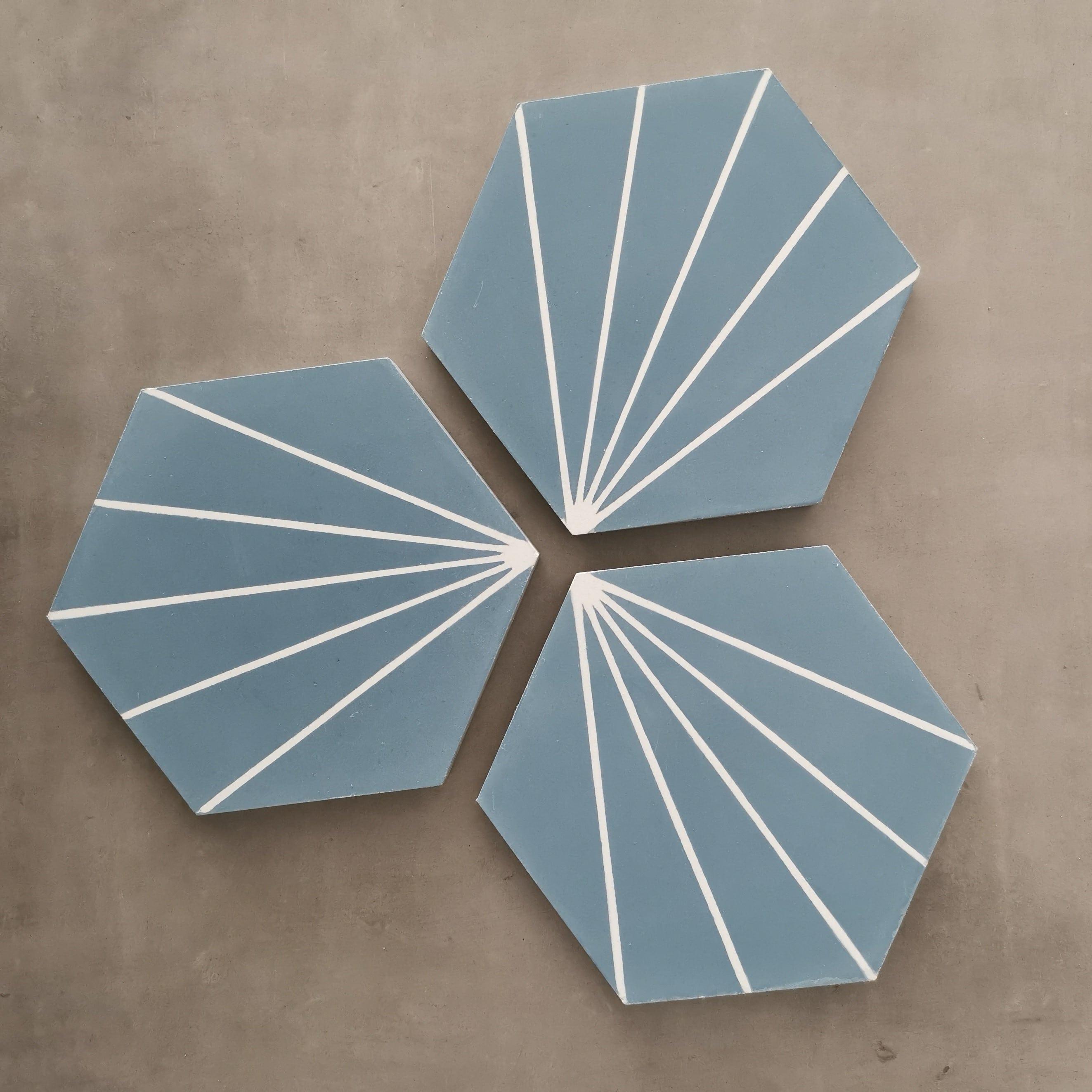 NOUVEAUTE CARREAUX DE CIMENT, une couleur inédite, toute en douceur pour cet hexagone.