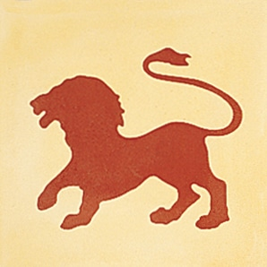CARREAUX DE CIMENT Vendus par boite de 12 carreaux ref 2050-1 Lion
